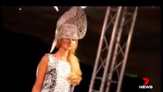 'Channel 7 news report Ana Bella Millinery London Fashion Week 2017 House of ikons show'