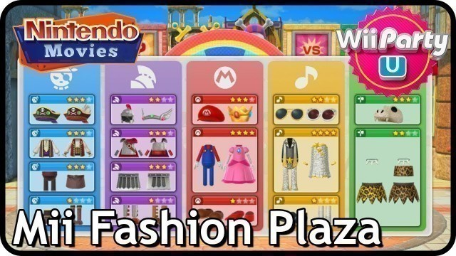 'Wii Party U: Mii Fashion Plaza (2 players, Pirate/Soldier/Mario/Rockstar/Cave Outfits)'