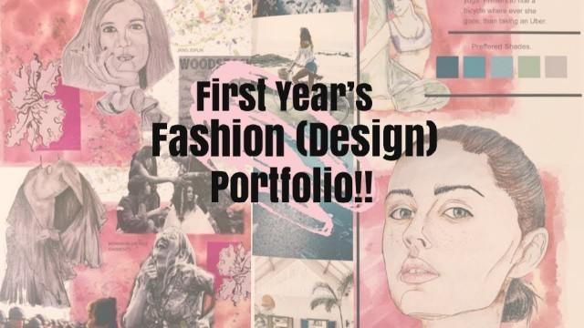 'My FIRST Proper Fashion (Design) PORTFOLIO! From a First Year Fashion Student.'
