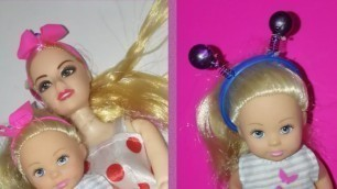 '24 DIY Barbie hair accessories | mini hair accessories | miniature'