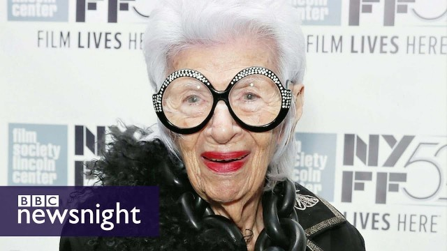 'Iris Apfel: The 93-year-old fashion icon - Newsnight'