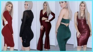 'SLEIGH ON A BUDGET FOR THE HOLIDAYS FT FASHION NOVA DRESSES UNDER $50!!'