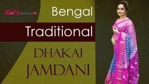 'Bengal Traditional Dhakai Jamdani Sarees Collection (15th October) - 14ODH'