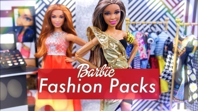 'Unbox Daily: ALL NEW Barbie Fashion Packs PLUS Mix & Match Accessories & more!!'
