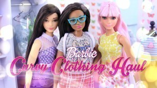 'Unbox Daily: Barbie Curvy Clothing Haul - Accessories Review - 4K'