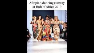 Afropian runway show at Hub of Africa Fashion Week. October 2019