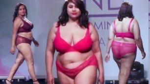'India\'s First & Hottest Plus Size Bikini Fashion Show Ever   Part 3'