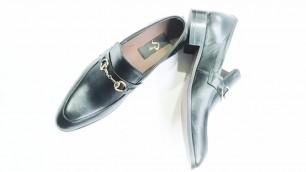 'Gucci Gold Black Color Moccasin - Handmade Formal Leather Shoes for Men | DASTKAAR'