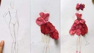 'How to Draw Evening Dress   Fashion Design model Dress #3'