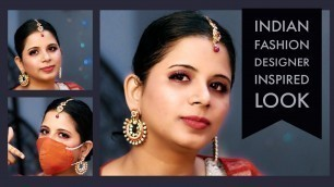 'How I created Indian Fashion Designer inspired Look   Glam Look   #GlamNMe'