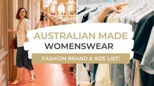 'Australian Made Fashion Brands To Shop In 2020'
