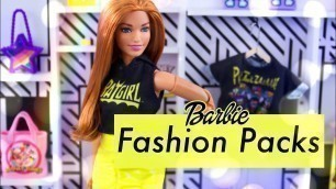 'Unbox Daily: ALL NEW Barbie Fashion Packs PLUS DIY Store Front'