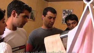Ashish Soni attending to his customers at his design studio: Archive Footage