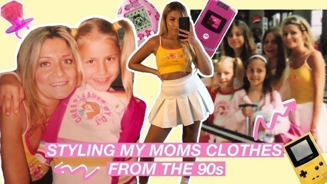 STYLING MY MOM'S OLD CLOTHES FROM THE 90's│thrifting my mom's closet