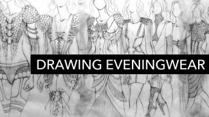 'Drawing Avant-Garde Eveningwear Inspired by Football Uniform Padding'