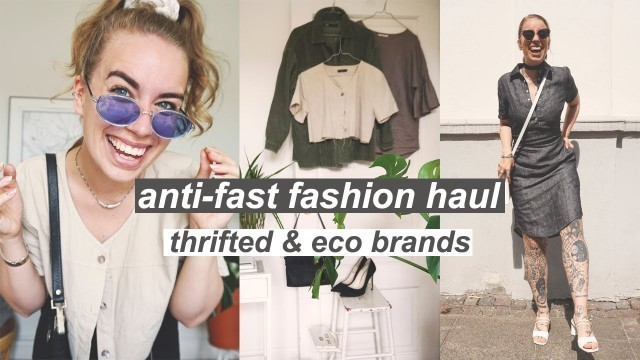 SUSTAINABLE SUMMER FASHION HAUL // 90's treasures and ethical brands