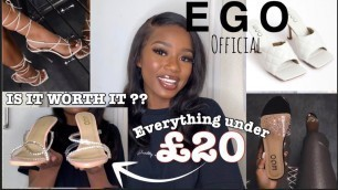 HUGE AFFORDABLE EGO OFFICIAL SHOE HAUL 2020 || *POST-QUARENTINE HEELS* (MUST HAVES)