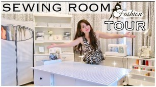 SEWING ROOM TOUR || FASHION DESIGN STUDENT