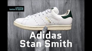 Adidas Stan Smith 'Ftwrwht/Ftwrwht/cggreen' | UNBOXING & ON FEET | fashion shoes | 2018 | 4K