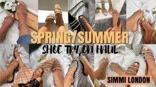 Affordable Summer Shoe Try On Haul || SIMMI LONDON  Instagram sandals you need this spring 2020
