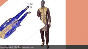 Tips Buy african clothes dashiki traditional mens african clothing long sleeves african bazin riche