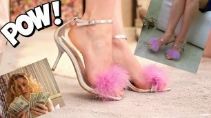 DIY Feather Heels | Carrie Bradshaw Shoes on a Budget | 90s Fashion for Women