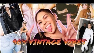 90's supermodel style vintage clothing haul!! *kendall jenner + bella hadid vibesssss*