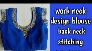Work neck designer blouse back neck stiching by Ashwini fashion designer, work design blouse sina,