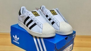 UNBOXING ADIDAS SUPERSTAR LACELESS WHITE + ON FEET