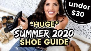 SUMMER 2020 SHOE GUIDE | Walmart, Target, DSW Haul | Affordable Summer Fashion | Designer Dupes