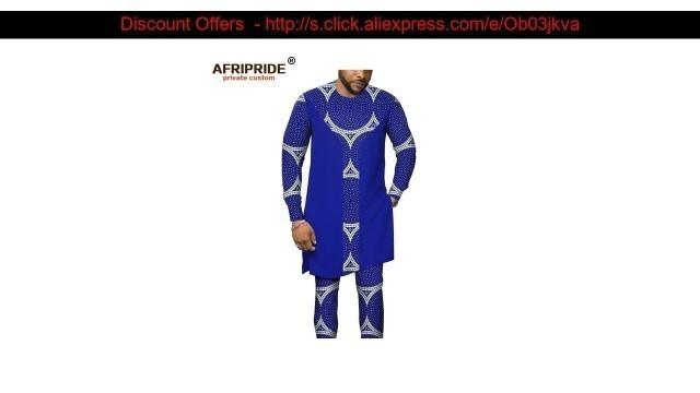 Buy African Men Clothing Tribal Set Print Shirts+ Ankara Pants Dashiki Tracksuit Outfits Blouse Top