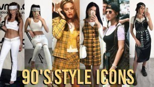 RECREATING 90's FASHION ICON'S OUTFITS
