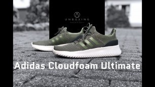 Adidas Cloudfoam Ultimate 'Green/Carbon' | UNBOXING | fashion shoes | 2018