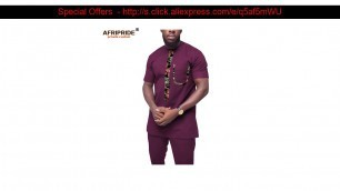 Discount 2019 African Clothing for Men Tracksuit Dashiki Shirts and Print Pants Traditional Set Out