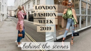 'LONDON FASHION WEEK   BEHIND THE SCENES'