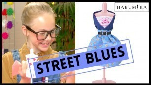 'Play Fashion Designer | Street Blues | How To Style Your Own Dress with Harumika!'