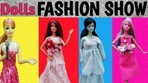 '#100BarbieDollGames | Exciting Doll\'s Fashion Show ! | Beautiful Dresses ! | Fashion Show in Hindi'