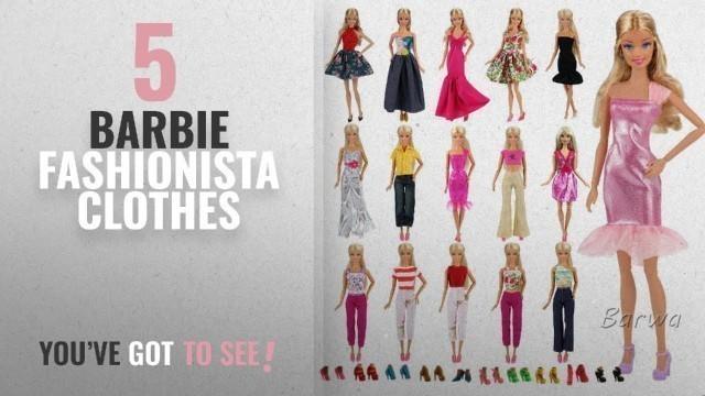 'Top 10 Barbie Fashionista Clothes [2018]: Barwa Lot 15 items = 5 Sets Fashion Casual Wear'