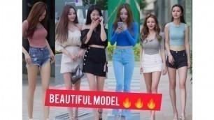 'Fashion walk on street in public on tiktok | Beautiful model | lovely style | China walk Tik Tok Ep4'
