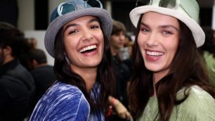 Emporio Armani Women's Spring Summer 2020 Fashion Show Backstage Video