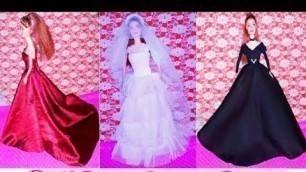 'Beautiful Barbie doll dresses Top 10 beautiful doll dresses Royal designs for Barbie doll dresses '