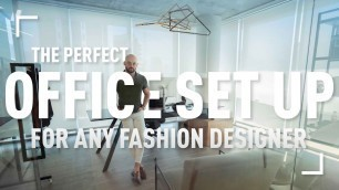 'The Perfect Office Set Up For Any Fashion Designer'