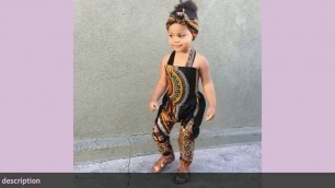 ✅Toddler Kid Baby Girl Outfits Clothes African Print Sleeveless Romper