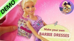 'Make your own BARBIE DRESSES with FASHION DESIGNER Set from Mattel   Fashion for Barbie'