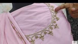 'Baby Pink Zardosi Work Suit Salwar | Designer Manufacturer Wholesaler - Zardozi Fashion'