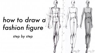 'how to draw a fashion figure | step by step with measurements | FREE FASHION FIGURE TEMPLATES'