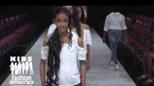'KIDS Fashion Democracy Show in NYC The Model  Runway Walk Through'