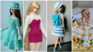 'Stunning Crochet barbie fashion clothes designs/Dolls Crochet Dress'