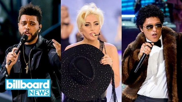 'Lady Gaga, Bruno Mars & The Weeknd Perform at the Victoria\'s Secret Fashion Show | Billboard News'
