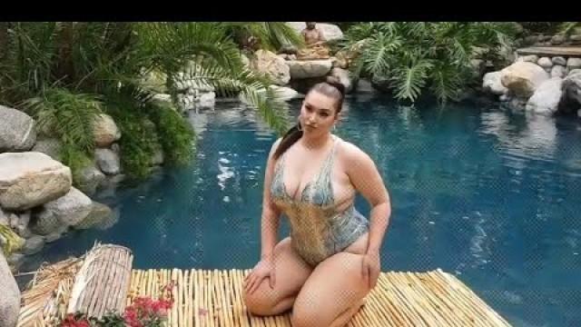 'BBW-Curvy Sense Fashion Tropical Shoot with kelliee Moran'